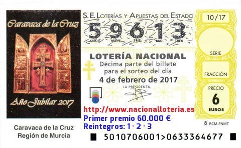 Premios de loteria nacional 2017