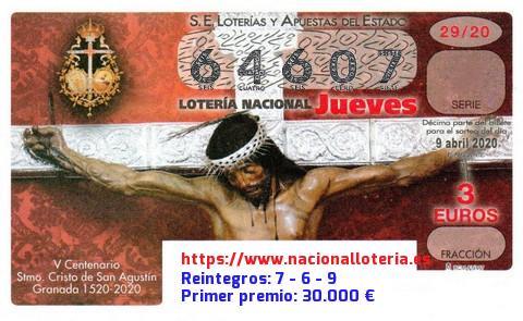 Loteria Nacional Jueves 9 De Abril De 2020 Comprobar Lotería Nacional