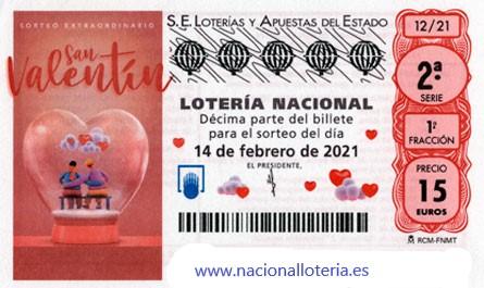 Sorteo Extraordinario San Valentín 2021 Día Enamorados