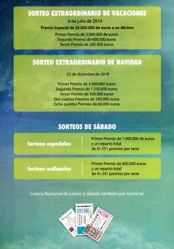 Calendario Loteria Nacional 2020.Calendario De Sorteos Y Programa De Premios De Loteria Nacional